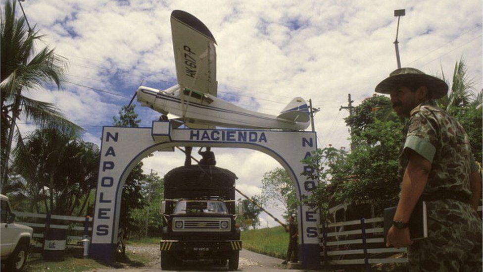 The hacienda of Pablo Escobar in Medellin, Colombia on August 29th, 1989.