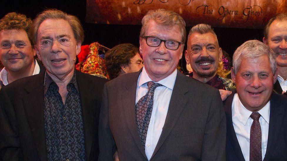 Andrew Lloyd Webber, Michael Crawford and Cameron Mackintosh