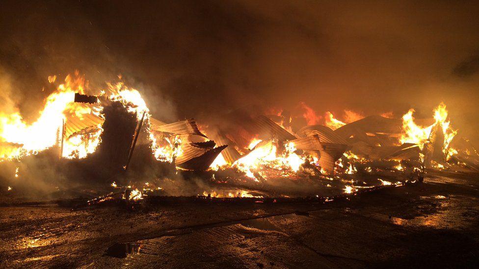 Fire at Elmwood Equestrian Centre