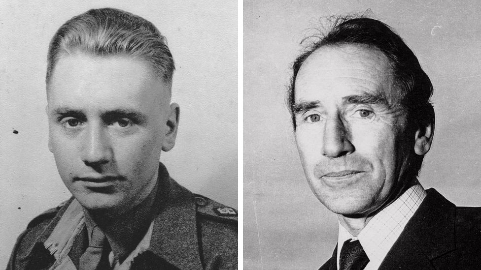 George Tuck as a solider during WW2 and, in later life, as a civil servant