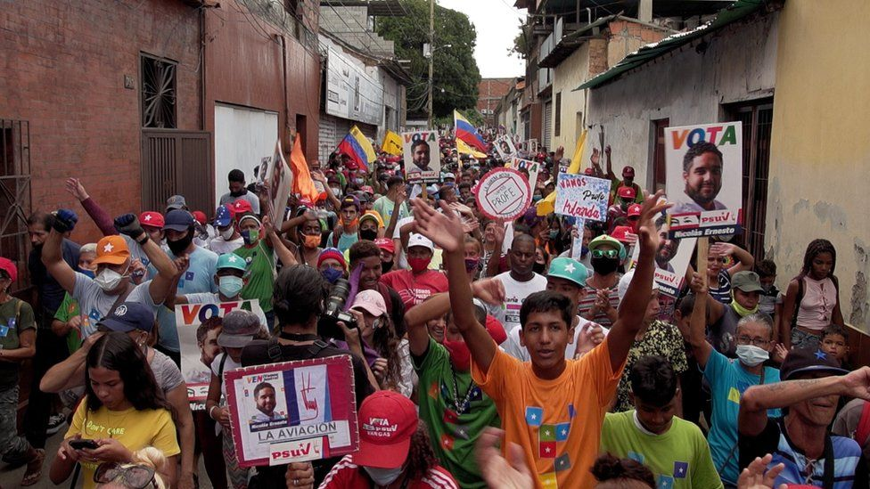 A campaign rally in Venezuela