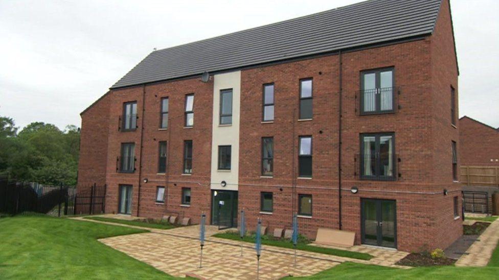Council flats in Llanrhymney