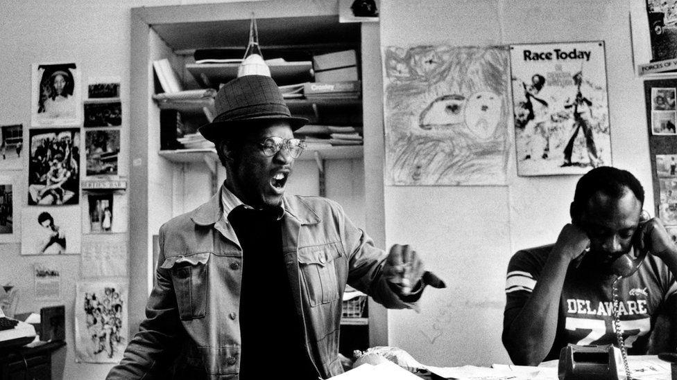 Linton Kwesi Johnson and Darcus Howe in 1979
