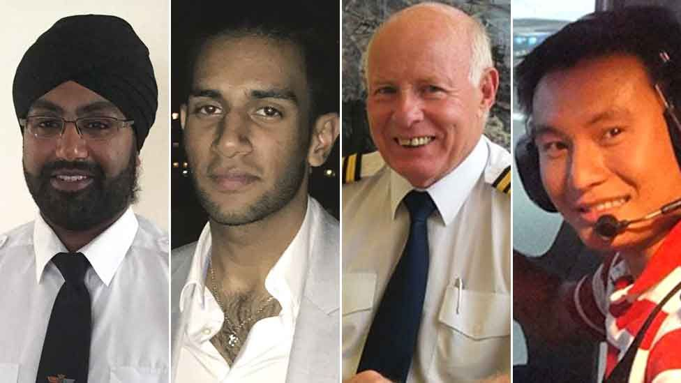 (l-r) Jaspal Singh Bahra, Saavan Singh Mundae, Mike Green, Trung Thanh Nguyen