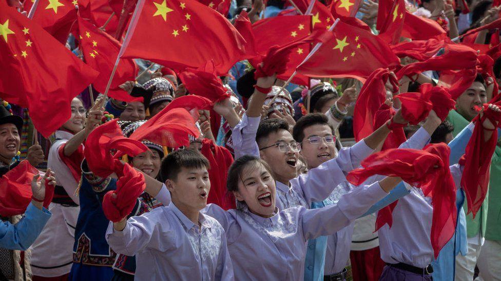 Молодь на святкуванні 70-річчя КНР