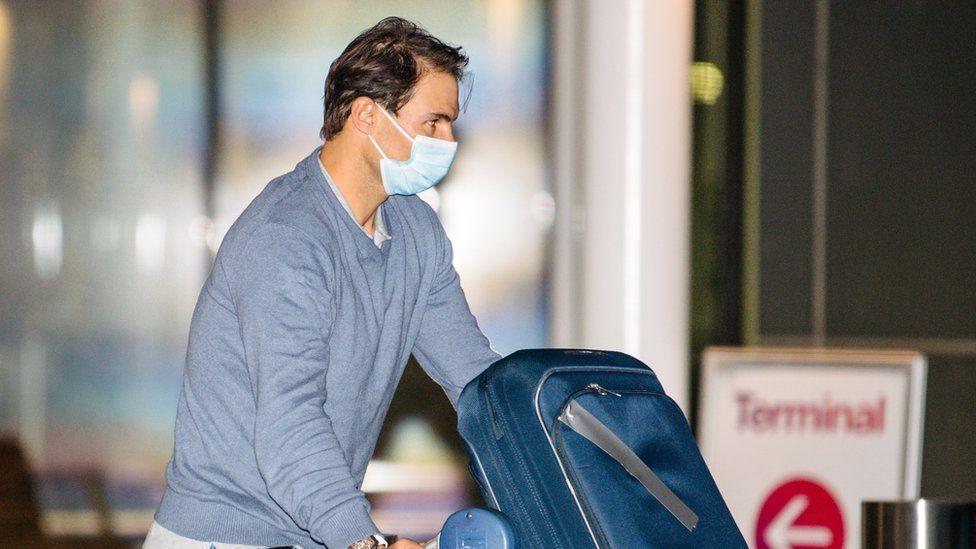 Rafael Nadal pictured at Adelaide Airport