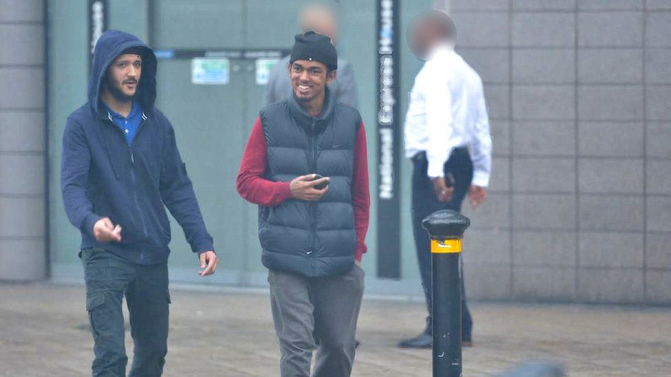 Imran (left) meeting with Naa'imur Rahman, previously convicted