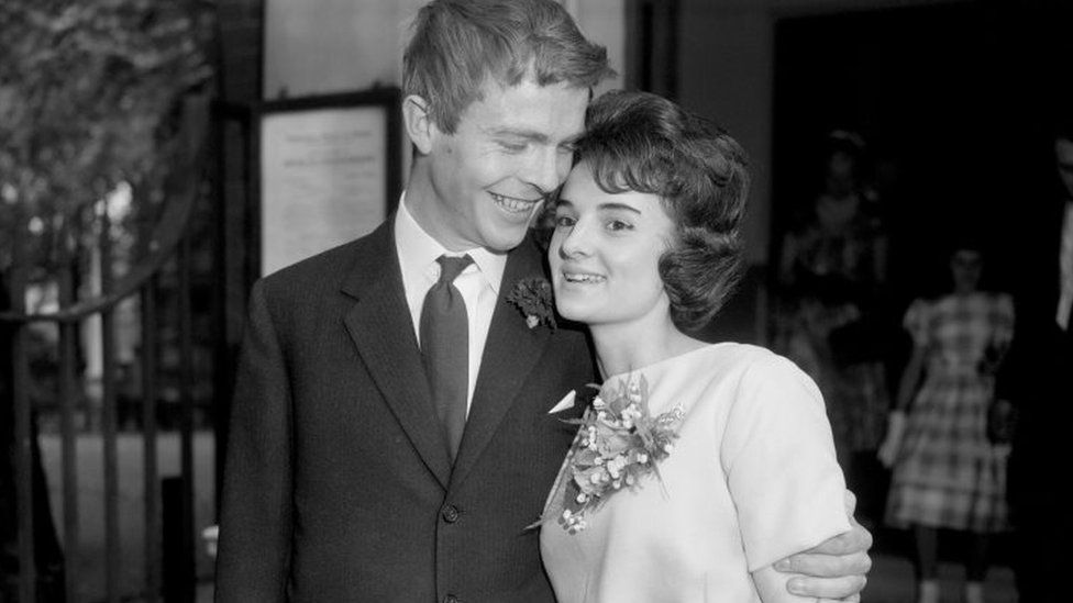 Max Mosley and the former Jean Taylor at Chelsea Register Office
