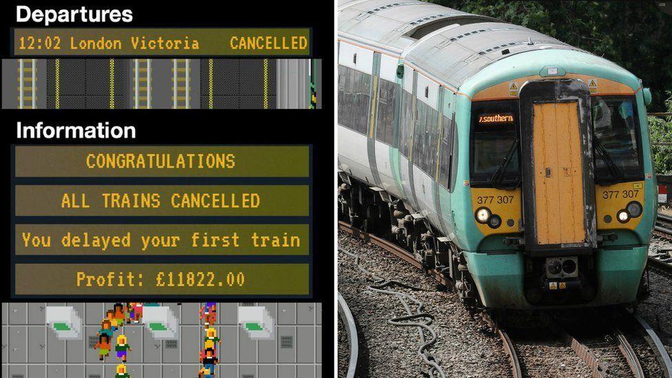 Southern Rail Tycoon game screenshot