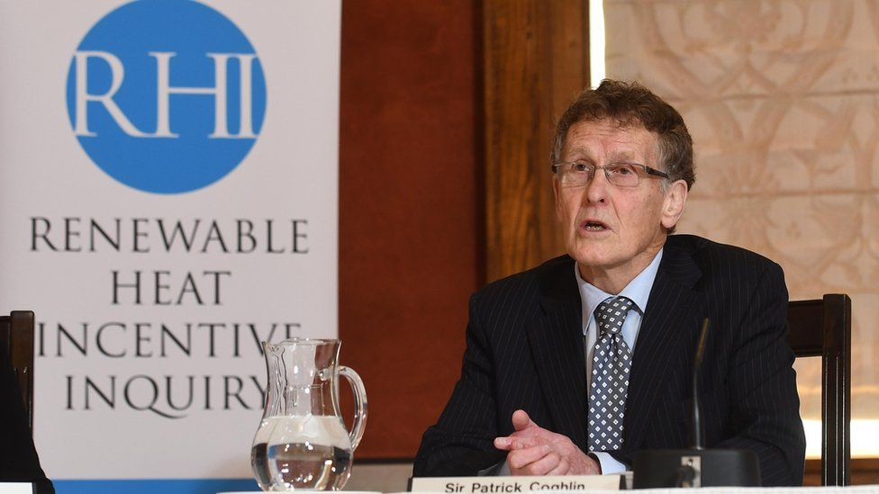 Sir Patrick Coghlin speaking at the preliminary hearing of the RHI inquiry