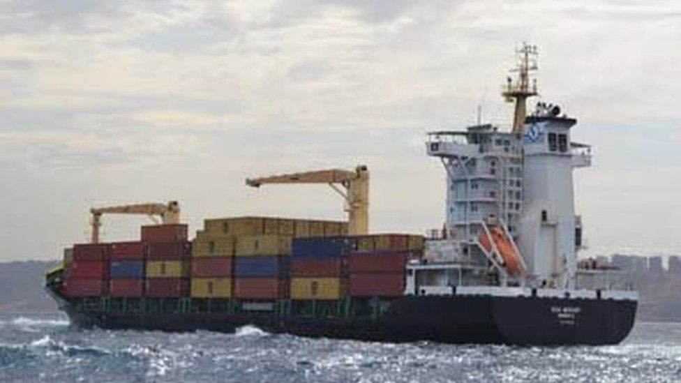 The container seized by Algeria
