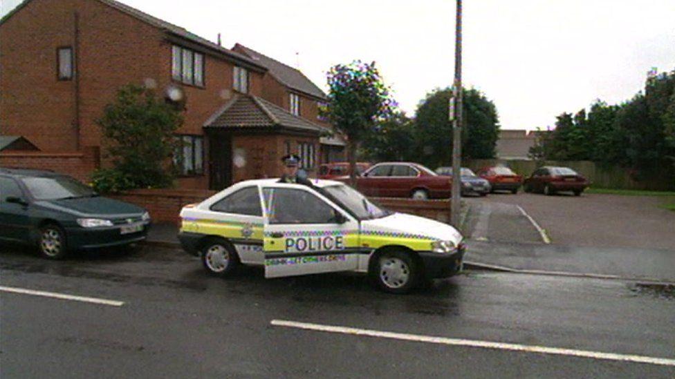 Police near Vicky Hall's home