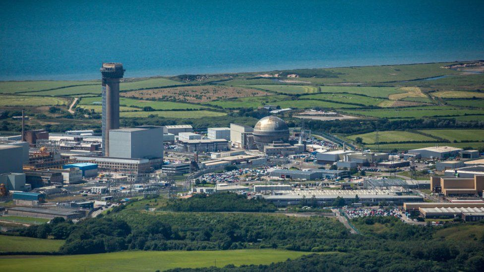 Sellafield wide view of the site and the nearby coast