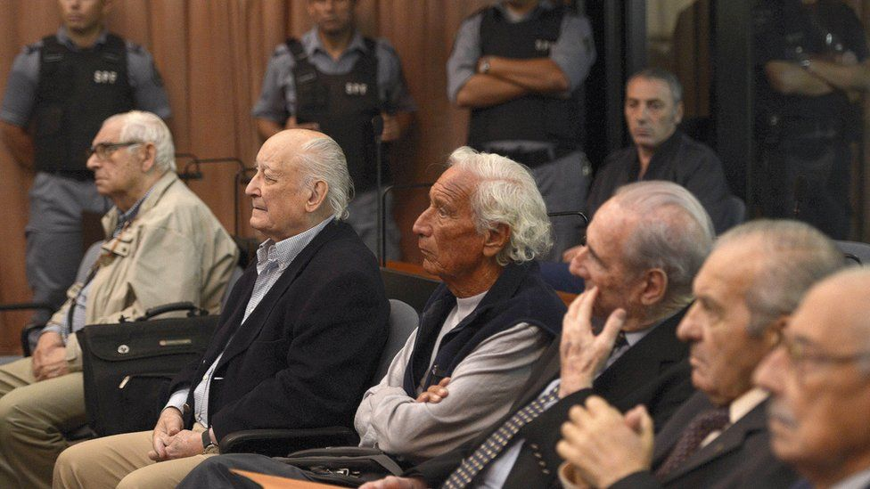 Former Argentine military members among others defendants during trials for crimes committed during Operation Condor. March 5, 2013