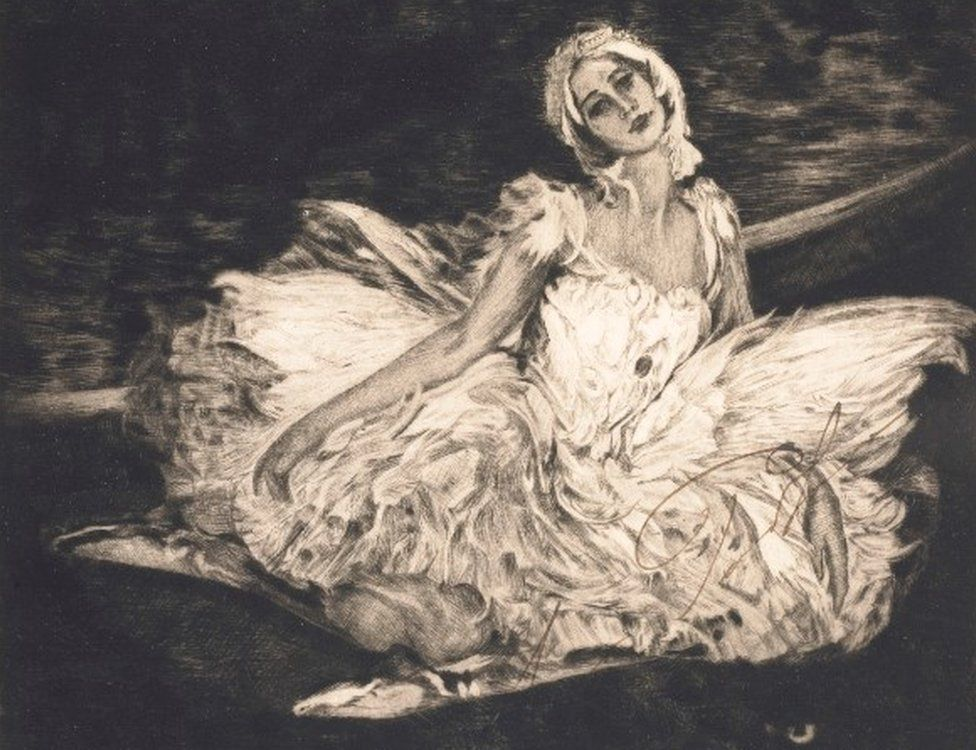 Anna Pavlova after Lavery in 1913