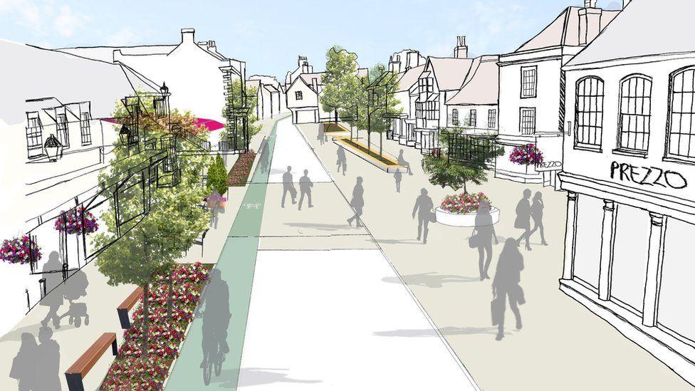 Future Thornbury High Street concept image