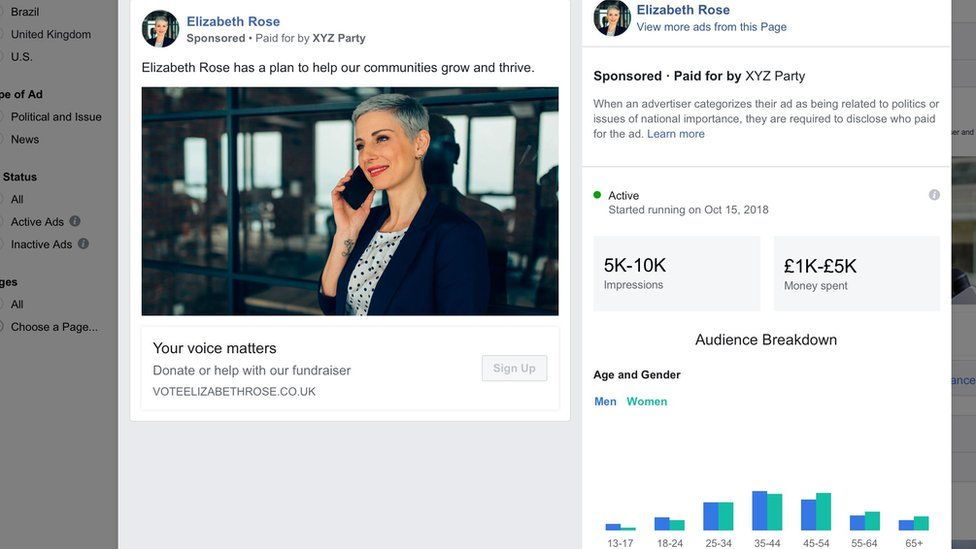Political ads tool