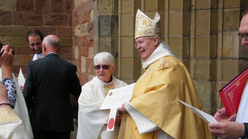 Rev Shotton with the Bishop