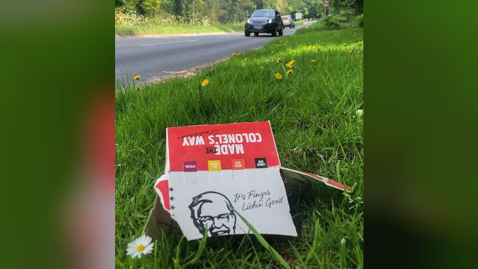 KFC box on roadside