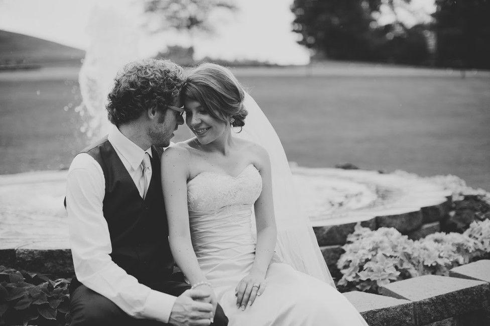 Johanna and Scott Watkins on their wedding day