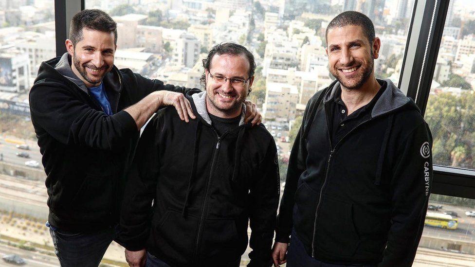 Carbyne's founders Alex Dizengof, Yony Yatsun and Amir Elichai