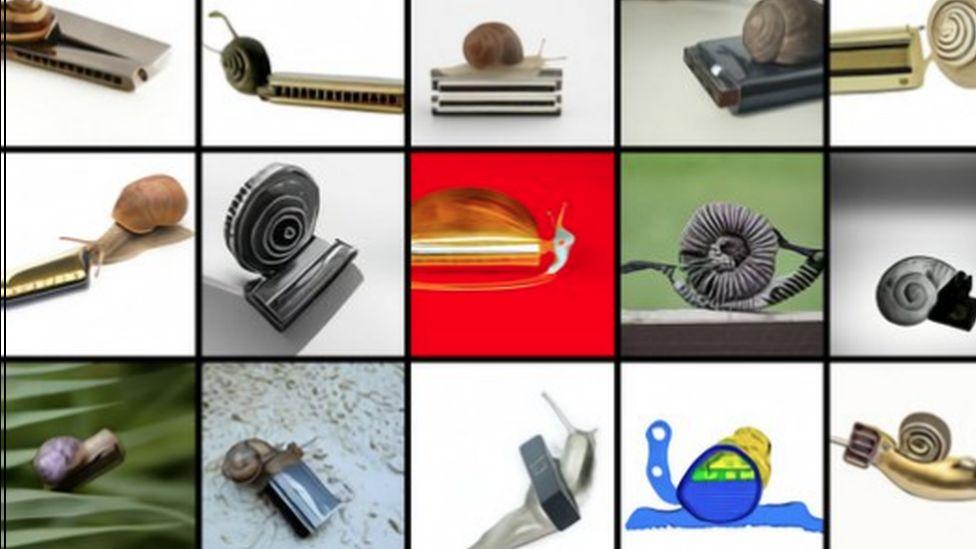 Snail harmonica combination