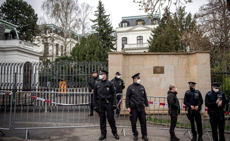 Russian embassy, Prague, 19 Apr 21
