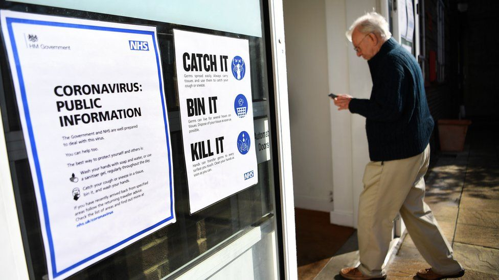 An elderly man walks into a NHS centre testing for coronavirus London