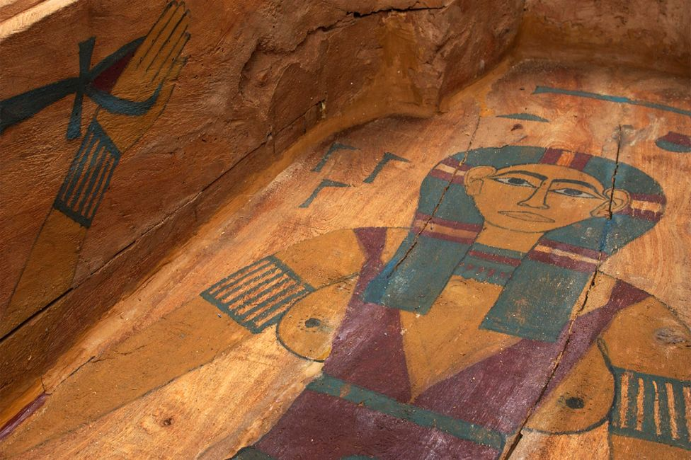 The goddess Nut, painted on the inside of a coffin