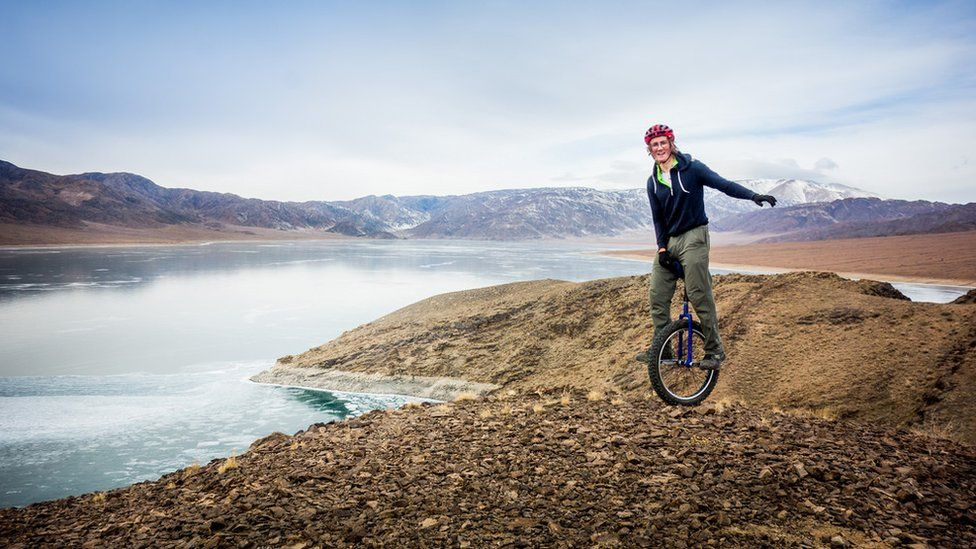 Ed Pratt on his round the world unicycle challenge