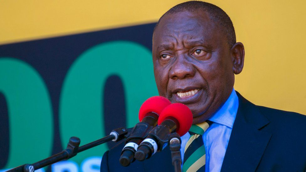 South Africa's Cyril Ramaphosa