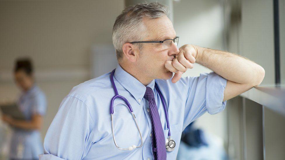 A concerned doctor