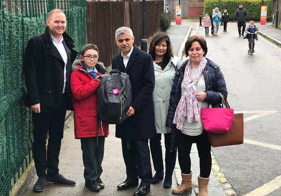 London Mayor Sadiq Khan at Haimo Primary School