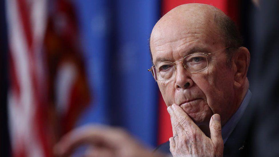 US secretary of commerce Wilbur Ross.