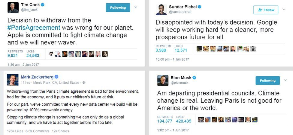 Tech leaders' messages