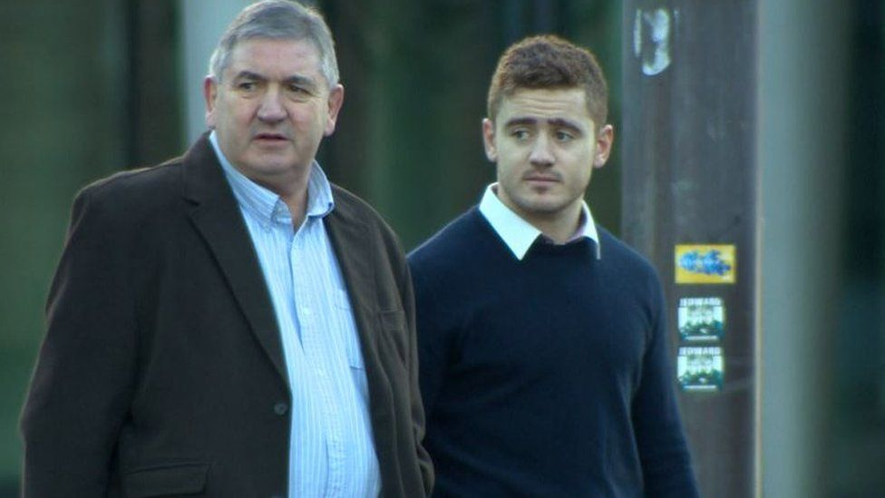 Peter Jackson with his son Paddy Jackson