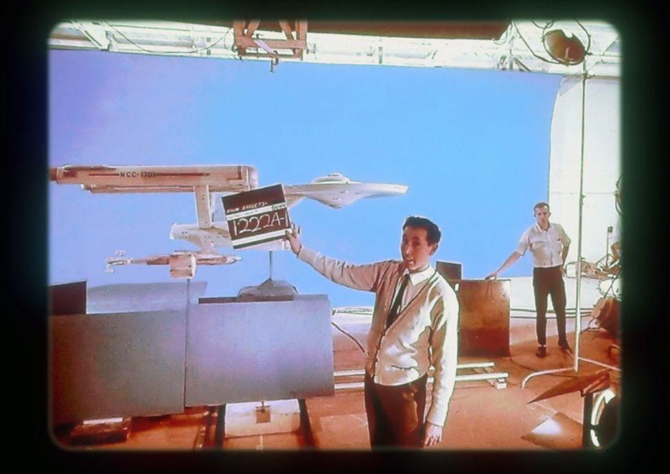 Barry at work on Star Trek