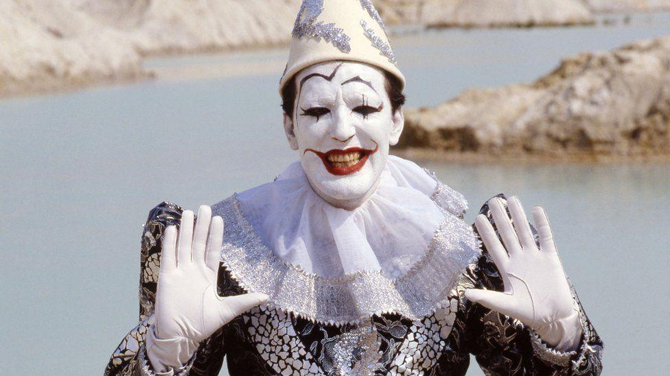 Ian Redington as chief clown in Doctor Who