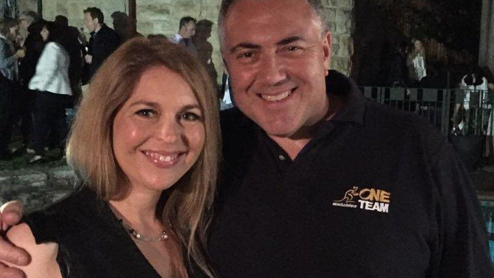 Ginni with Australian political figure Joe Hockey