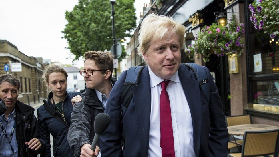 Boris Johnson on 1 July 2016 after quitting leadership race