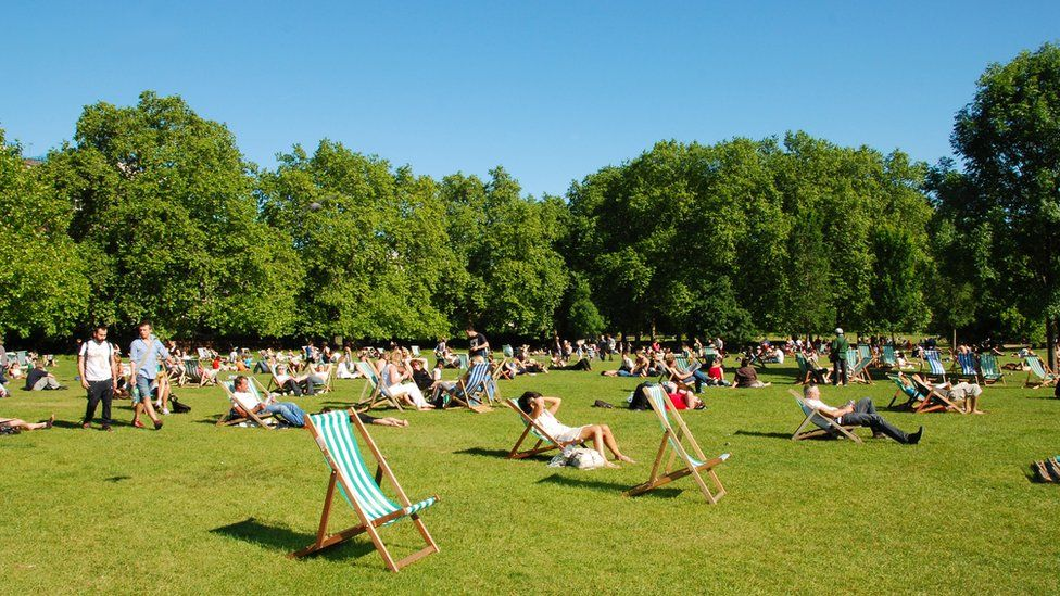 Hyde Park in the summer