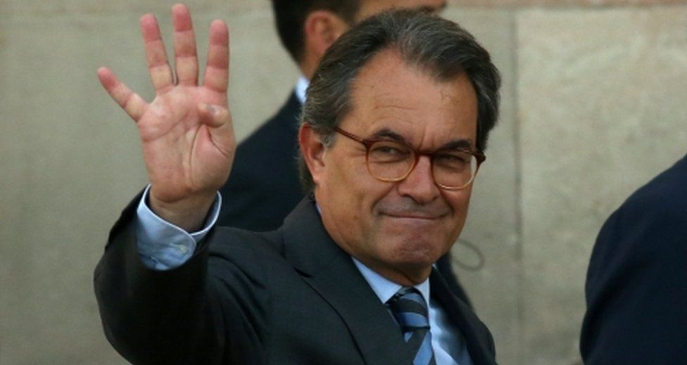 Former regional President of Catalonia Artur Mas in Barcelona, Spain on 8 May, 2017.