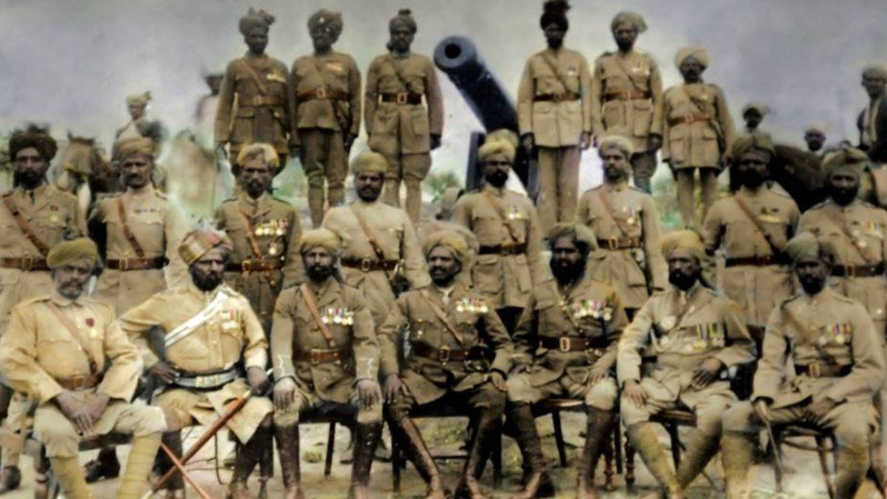 A group shot of soldiers from Dulmial village