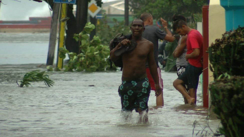 The streets of Vedado briefly became canals