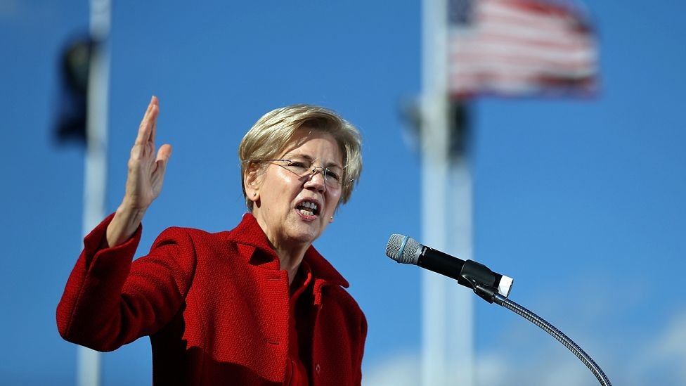 Elizabeth Warren speaks during a campaign rally with Hillary Clinton in Manchester, New Hampshire - 24 October 2016