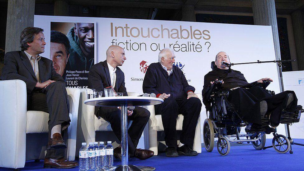 Jean Vanier co-wrote a book about disability with tetraplegic businessman Philippe Pozzo di Borgo