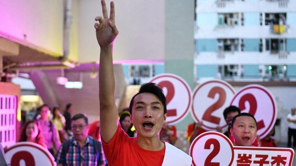 Pro-democracy district council candidate Jimmy Sham