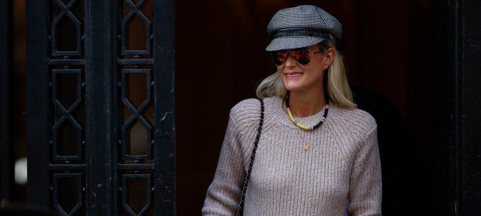 Johnny Hallyday's widow Laeticia in Paris 15 October