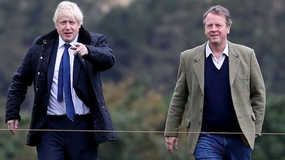 Boris Johnson and Alister Jack