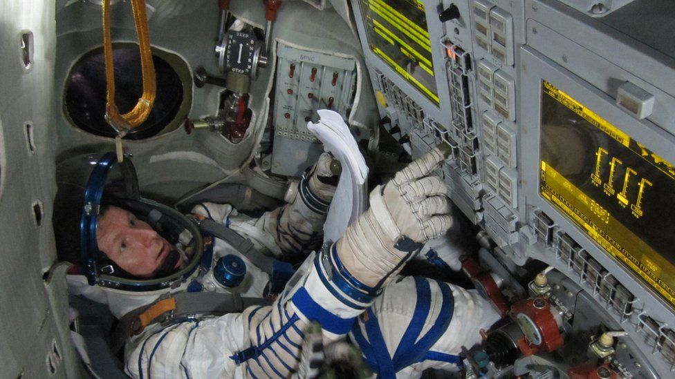 Will be going to Star City in Moscow next to carry out his final training in a Soyuz simulator before he sets off into space.